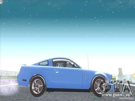 Ford Mustang Pony Edition für GTA San Andreas Rückansicht