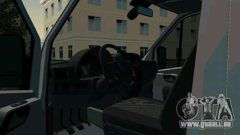 Mercedes-Benz Sprinter réanimation pour GTA San Andreas sur la vue arrière gauche