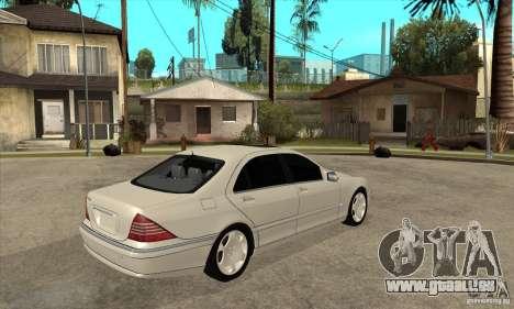Mercedes Benz S600 pour GTA San Andreas vue de droite