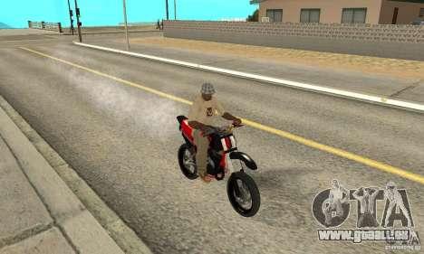 DT 180 Motard pour GTA San Andreas laissé vue