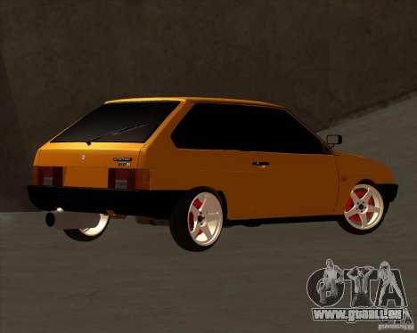 VAZ 2108 (version avec disques blancs) pour GTA San Andreas vue arrière
