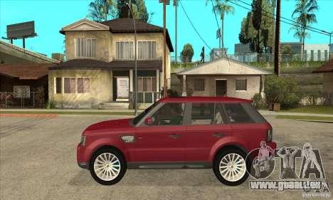 Land Rover Range Rover Sport HSE pour GTA San Andreas laissé vue