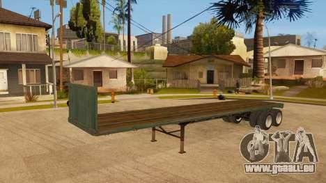 Chalut pour GTA San Andreas vue arrière