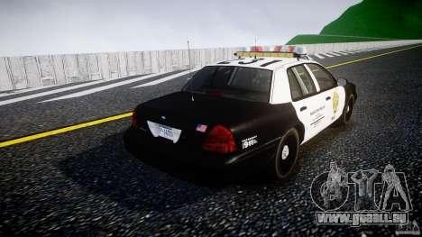 Ford Crown Victoria Raccoon City Police Car pour GTA 4 est un côté