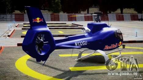 Eurocopter EC130 B4 Red Bull für GTA 4 Seitenansicht