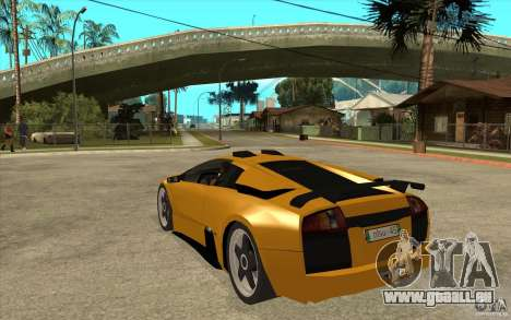 Lamborghini Murcielago pour GTA San Andreas sur la vue arrière gauche