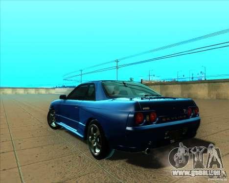 Nissan Skyline GT-R R32 1993 Tunable für GTA San Andreas Rückansicht