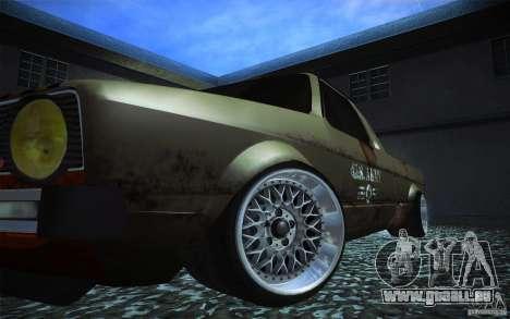 US Army Volkswagen Caddy für GTA San Andreas Rückansicht