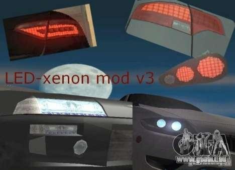 LED-xenon mod v3.0 für GTA San Andreas