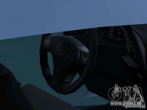 Chevrolet Corvette Stingray für GTA San Andreas Rückansicht