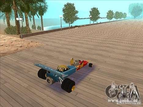 Dragg car pour GTA San Andreas sur la vue arrière gauche