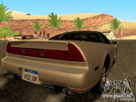 Honda NSX Custom pour GTA San Andreas laissé vue