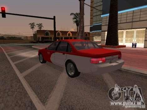 Chevrolet Impala SS 1995 pour GTA San Andreas vue de dessous
