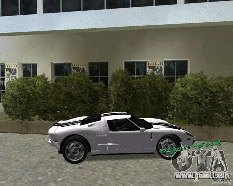 Ford GT pour une vue GTA Vice City de la droite