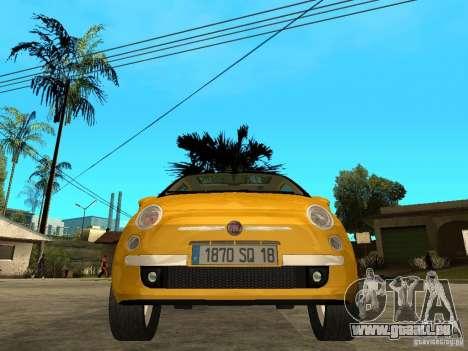 Fiat 500 C pour GTA San Andreas vue de droite