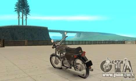 Jawa 350 mise à niveau 634V5 pour GTA San Andreas sur la vue arrière gauche