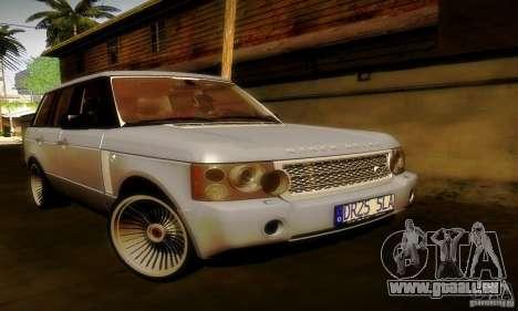 Range Rover Supercharged pour GTA San Andreas salon