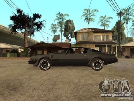 Pontiac Trans Am 1977 pour GTA San Andreas laissé vue