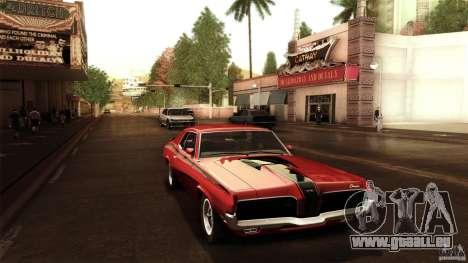 Mercury Cougar Eliminator 1970 pour GTA San Andreas vue de droite