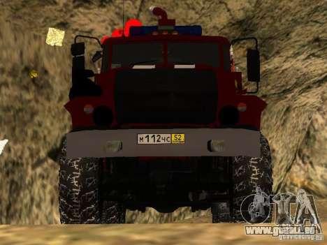 Ural 43206 AC 3.0-40 (6 x 6) pour GTA San Andreas vue arrière