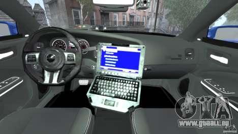 Dodge Charger Unmarked Police 2012 [ELS] pour GTA 4 Vue arrière