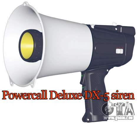 Powercall sirène Deluxe DX-5 pour GTA 4