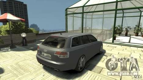 Audi A4 Avant beta pour GTA 4 Vue arrière de la gauche