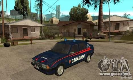 Alfa Romeo 75 Carabinieri für GTA San Andreas