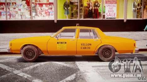 Chevrolet Impala Taxi 1983 [Final] pour GTA 4 vue de dessus