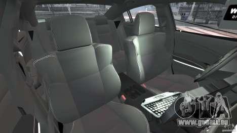 Dodge Charger Unmarked Police 2012 [ELS] pour GTA 4 est une vue de l'intérieur