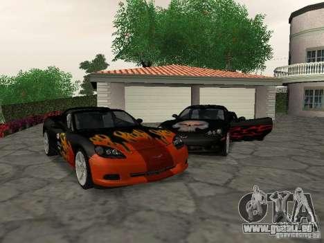 Chevrolet Corvette (C6) pour GTA San Andreas vue de dessous