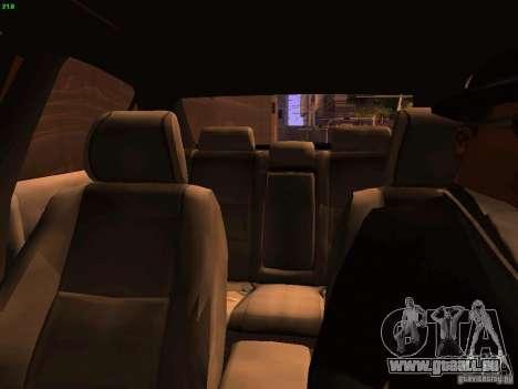 Lexus IS300 Taxi pour GTA San Andreas vue de dessus