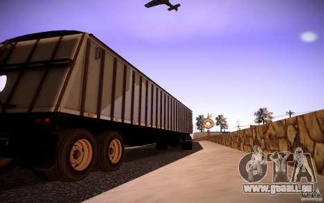 Dumper Trailer pour GTA San Andreas sur la vue arrière gauche
