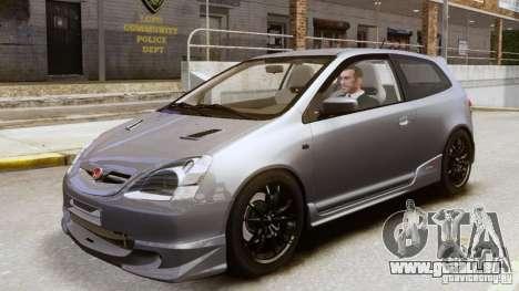 Honda Civic Type-R (EP3) für GTA 4 Rückansicht