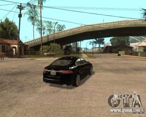 Jaguar XFR 2009 für GTA San Andreas rechten Ansicht