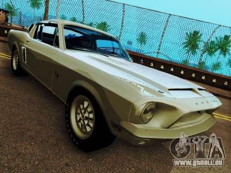 Shelby GT 500 KR pour GTA San Andreas vue arrière