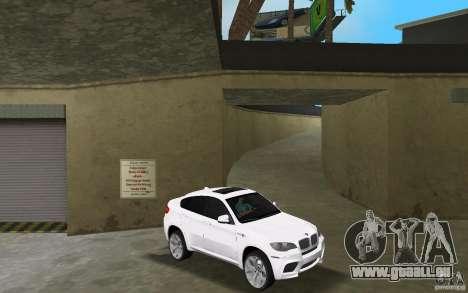 BMW X6M 2010 für GTA Vice City Rückansicht