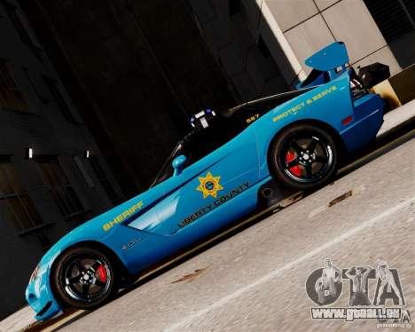 Dodge Viper SRT-10 ACR 2009 Police ELS pour GTA 4 est une gauche