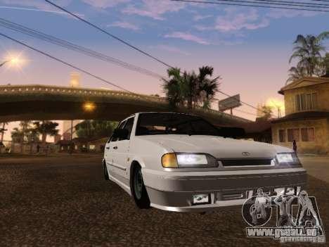 ВАЗ 2114 pour GTA San Andreas sur la vue arrière gauche