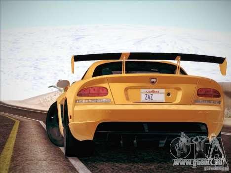 Dodge Viper SRT-10 ACR pour GTA San Andreas vue arrière