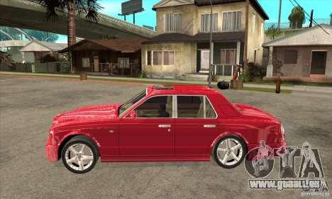 Bentley Arnage T pour GTA San Andreas sur la vue arrière gauche
