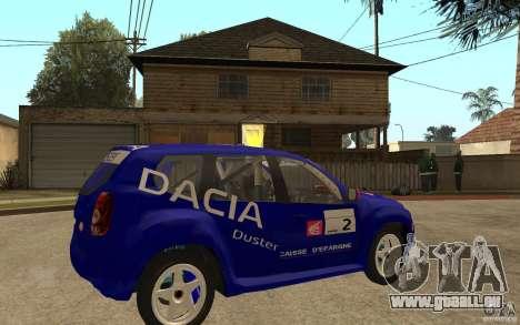 Dacia Duster Rally pour GTA San Andreas vue de droite