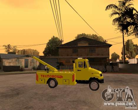 Transporteur de ZIL 5301 Bull pour GTA San Andreas vue de droite