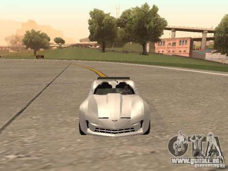 Chevrolet Corvette C7 Spyder für GTA San Andreas Rückansicht
