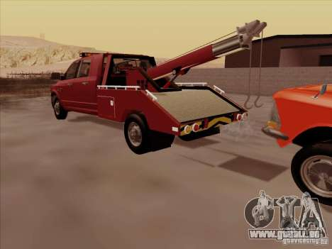 Dodge Ram 3500 TowTruck 2010 pour GTA San Andreas vue intérieure