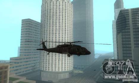 UH-60M Black Hawk für GTA San Andreas linke Ansicht