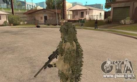 Sniper de peau pour GTA San Andreas troisième écran