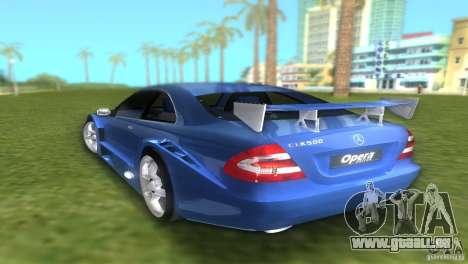 Mercedes-Benz CLK500 C209 pour une vue GTA Vice City de la gauche