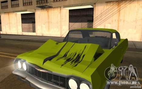 Chevrolet Impala SS 1964 pour GTA San Andreas sur la vue arrière gauche