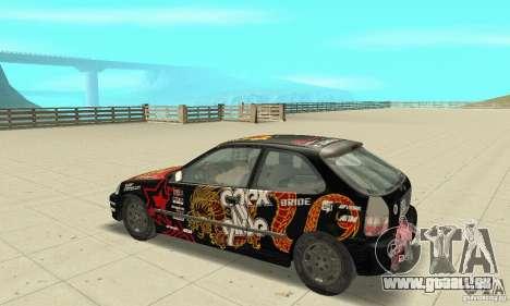 Honda-Superpromotion pour GTA San Andreas vue arrière